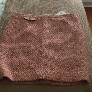 J. Crew pencil skirt 14 pink/beige tweed NWT